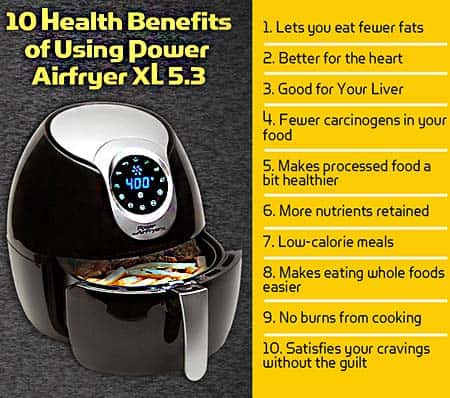 10 Health Benefits using Power Air Fryer Oven Image