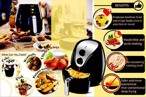 Image showing Air Fryer Benefits & What can you cook?